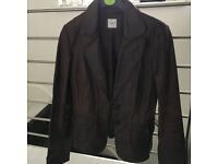 Real leather women's coat