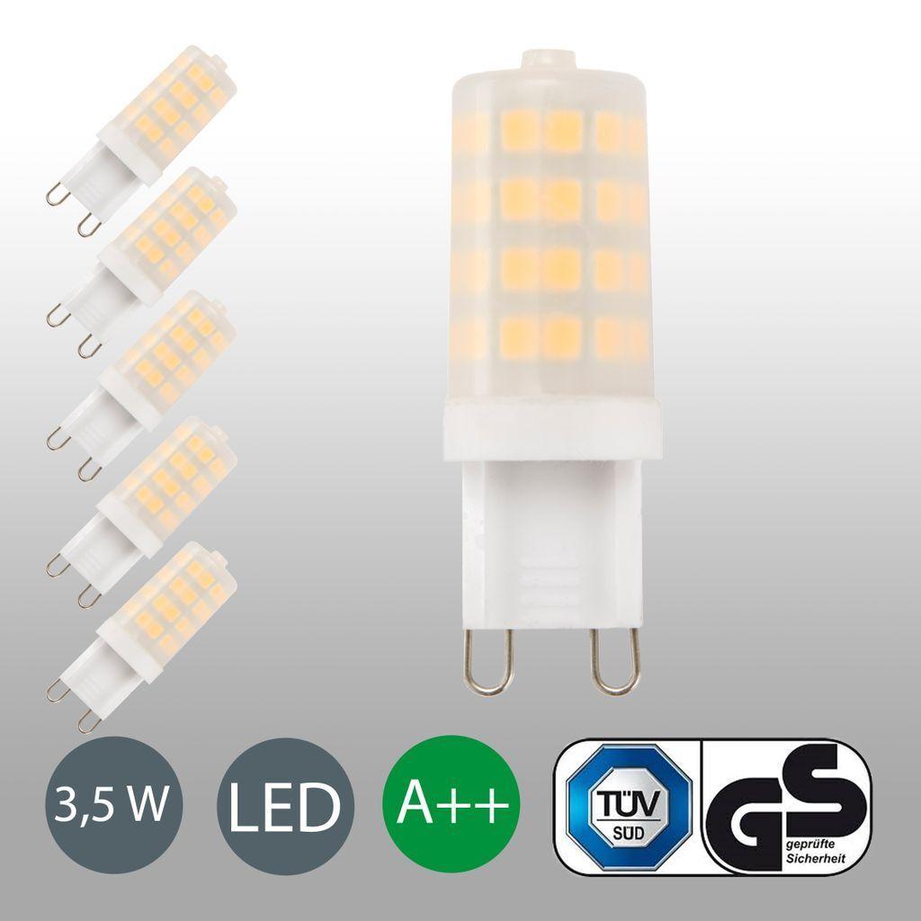 LED Leuchtmittel G9 3W Lampen 5ER SET Glühbirnen Sparlampen Stecklampen warmweiß
