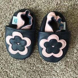 New leather baby girl shoes 0-6 months