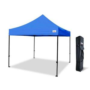 Pop Up Canopy Tent with Bonus Wheeled Carrying Bag - Gazebo Shelter by Deluxe Canopy, 10x10, 10x15, 10x20