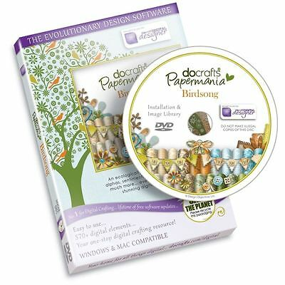 SALE Papermania - Birdsong (DVD-ROM) Craft CD Computer Template Software
