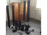 Bang & Olufsen sound system with speakers