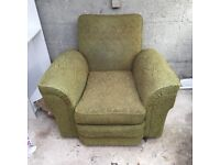 Green Art Deco Armchair