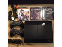 PS3 Slim 500GB two controls + 3 games + tv/remote