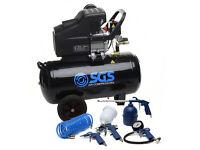 Air Compressor & Tool Kit - 50 Litre, 2.5 HP, 9.6 CFM