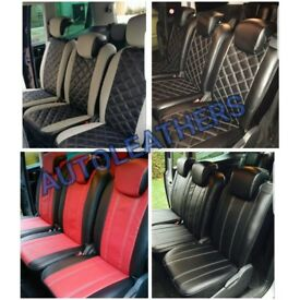 LEATHER CAR SEATCOVERS FOR TOYOTA PRIUS TOYOTA PRIUS PLUS FORD GALAXY CMAX SMAX SEAT ALHAMBRA