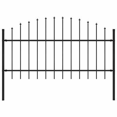vidaXL Garden Fence Spear 1-1.25m Outdoor Panel Barrier Border