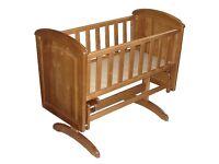 Swing crib troll with mama and papa mattress