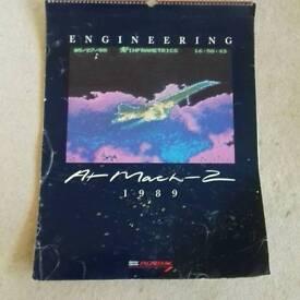 1989 BA Concorde calendar