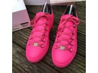Balenciaga pink low top arena trainers
