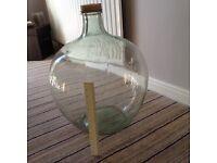 Large authentic vintage glass Carboy/ bottle garden/ terrarium/ quirky lamp.