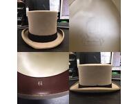 Grey Vintage Top Hat Moss Bros 6. 7/8