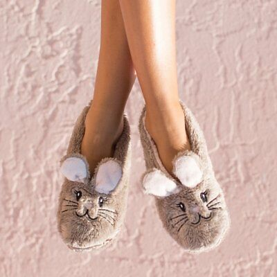 (Faceplant Dreams Footsie Slippers SNUGGLE BUNNY RABBIT ~Size Large 9/10 ~NWT~)