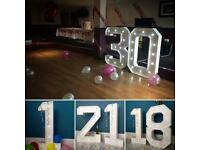 4ft Number lights for sale! Great business...
