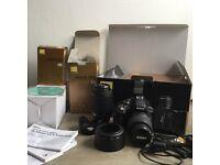 Nikon D33000 DSLR Camers & Nikkor 55-200 Lens Photograpraphy Kit Inc. Free 85W Bulb *WILL POST*