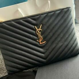 Brand New YSL Saint Laurent Clutch Bag With Box.