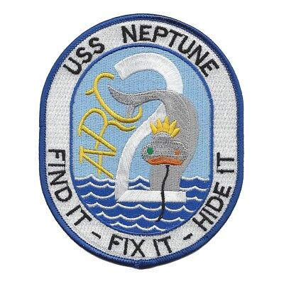 ARC-2 USS Neptune Cable Repair Class Ship Military Patch FIND IT FIX IT HIDE IT