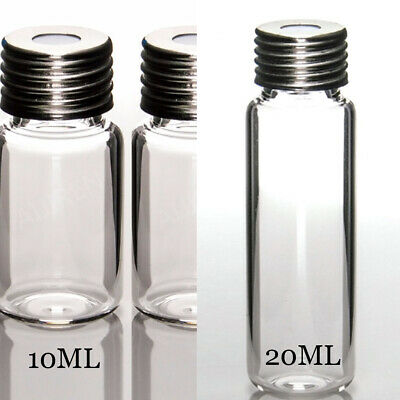 10ml20ml Clear Vial 18mm Screw Topround Bottomsilver Screw Cap With Hole New