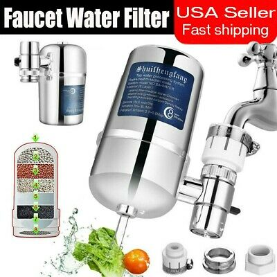 Faucet Water Filter Kitchen Sink Bathroom Mount Filtration Tap Purifier -