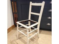 Chair, painted, SEAT MISSING, shabby chic/vintage, for dressing table or similar