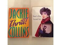 Joan & Jackie Collins signed books.
