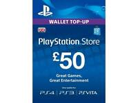 £50 PSN TOP UP- 100% Reliable.