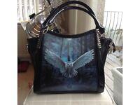 New with Labels Anne Stokes Large Black handbag/Shoulderbag