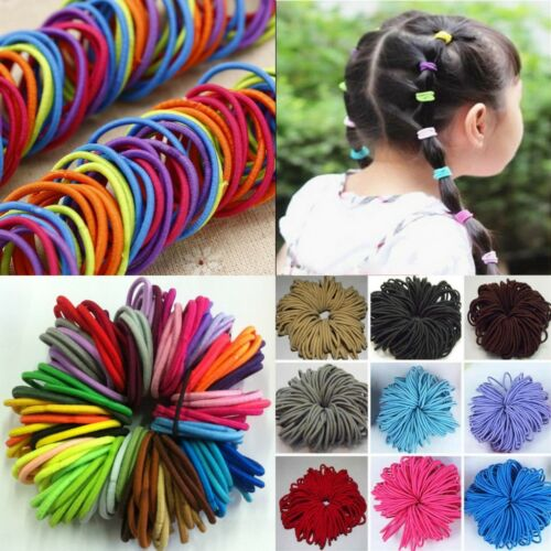 12 Thick Snag Free Hair Bobbles Elastic Hairband Ponytail Holders for Womens