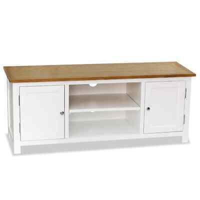 TV Cabinet 120x35x48 cm Solid Oak Wood   Wood Furniture