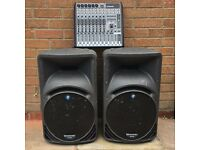 Mackie PA system - SRM450 speakers / ProFX12 Mixer / Speaker Stands / All cables