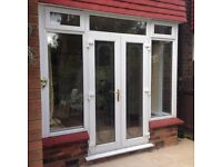 UPVC DOUBLE GLAZED FRENCH / PATIO DOORS IN FRAME