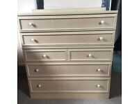 G Plan Bleached Oak Chest of Drawers