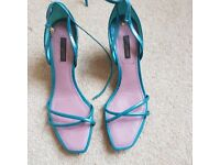 Turquoise Louis Vuitton wedges