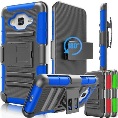 Hard Case Cover Belt Clip Holster For Samsung Galaxy Amp /Express Prime /J3 /Sky