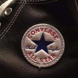 Brown Leather Converse Trainers | Converse All Star Shoes | Size 11 Greenisland