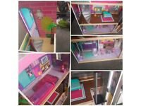 Huge dolls house (suitable for barbies)