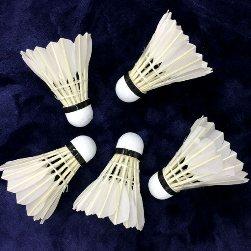 12x White Feather Badminton Ball Shuttlecocks For Game Outdoor Sport Training ZY