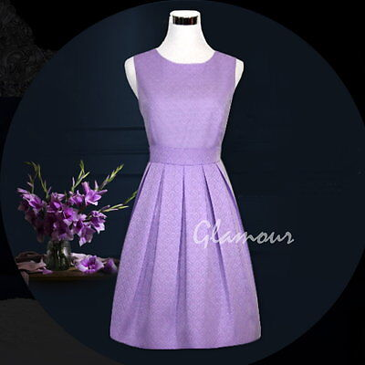 50 Style Floral Jacquard Work Party Bridesmaid A-line Women