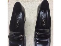 prada women shoes - 37.5 Our size -black
