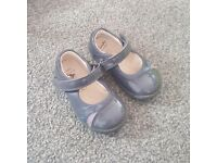 Clarks first shoes, grey, good condition, size 4.5G