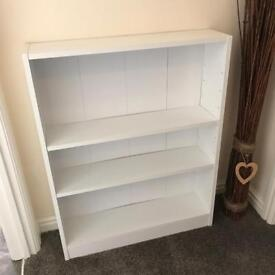 White bookcase / DVD shelf