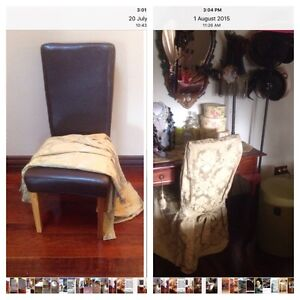 FAUX LEATHER CHAIR WITH COVER Mindarie Wanneroo Area Preview