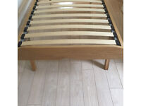 Oak framed single bed