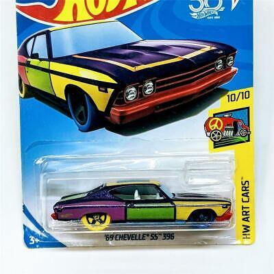 2018 Hot Wheels Art Cars 10/10 1969 '69 Chevrolet Chevelle SS 396 New Sealed 302