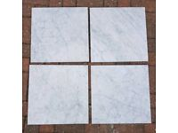 Job Lot Carrara White Marble Wall and Floor Tiles 40x40cm Polished Italian Marble Slab 400x400x15mm