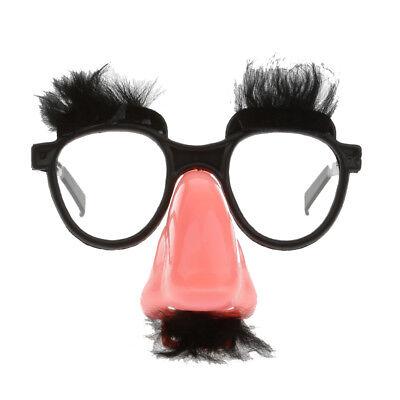 Clown Mustache with Nose Eyes Glasses Fancy Dress Clown Costume Joke Party