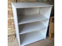 IKEA white washed effect bookcase