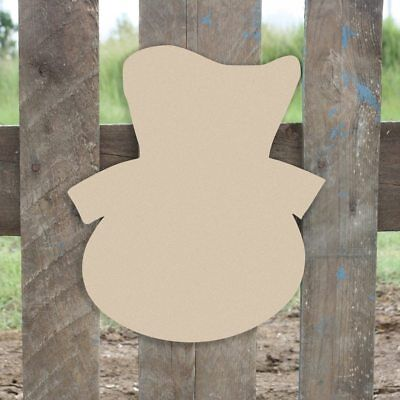 Wood Snowman Shape, Unfinished Shape, MDF Wood Cutout, Wooden Paintable Craft