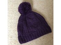 Cute Violet Tiffany Wooly Hat