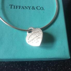 TIFFANY & CO Bangle & heart PENDANT 925 Hallmarked